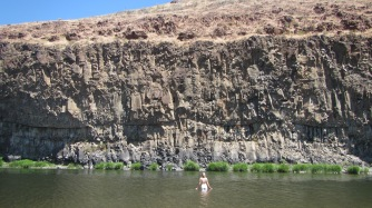 Swimming in the John Day River